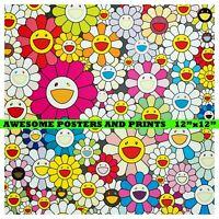 TAKASHI MURAKAMI - Flowers from the village of Ponkotan. Poster. Reprint. 12x12