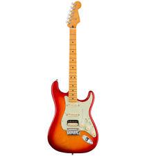 Fender American Ultra Stratocaster HSS Electric Guitar - Plasma Red Burst