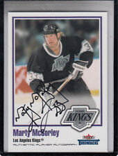 2002-03 FLEER GREATS OF THE GAME THROWBACKS MARTY MCSORLEY  AUTOGRAPH AUTO