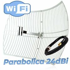 ANTENA WIFI PARABOLICA EXTERIOR LARGO ALCANCE 24DBI 5M CABLE PIGTAIL SMA 5METROS