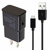 10FT Samsung Galaxy S2 S3 S4 Micro USB Data Cable +Home Wall Charger OEM Quality