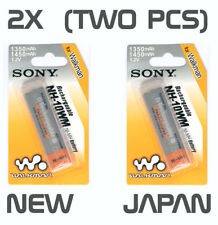 Genuine TWO X2 New SONY NH-14WM NH-10WM Gumstick Battery for CD MD Player Japan