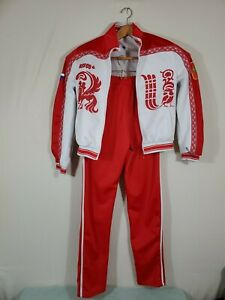 Russian National Olympic Team BOSCO Womens Track Zip Up Warmup Jacket Pants M