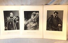 "Friedrich Schiller's Play ""MARY STUART""  7 Character Prints Steel Engraving 1867"