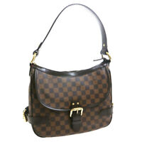 LOUIS VUITTON HIGHBURY SHOULDER BAG PURSE EBENE DAMIER N51200 DU1026 36175