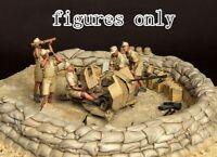 1/35 Resin WWII DAK German 5 Soldiers Kit Unpainted unassembled CK004