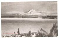 Postcard WA Seattle Mt Rainier from Seattle Black and White RPPC c1907 FREE SHIP