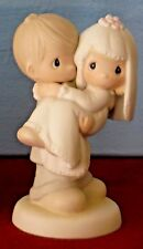 BLESS YOU TWO Wedding Couple Precious Moments Figurine Cake Topper 1982 E-9255