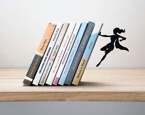 ARTORI Design Supergal Bookend Female Woman Girl Super Hero Book Holder Stopper