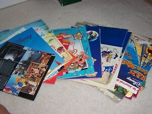 VTG Walt Disney World, Park Guides Posters, Advertisements, Books Huge Lot Misc.