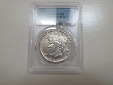 1921 , Peace Dollar , PCGS , MS 62 , High Relief