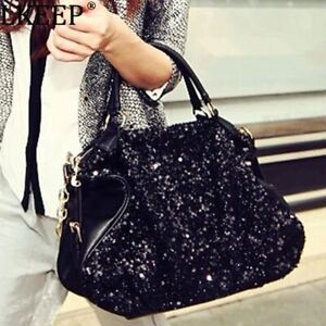 Extravagance Fashion New Style Sequin Patent Leather WOMEN'S Bag High-End