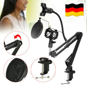 Profi Mikrofonständer Microfon Halterung Tischstativ Mikrofonarm Falten DHL DE