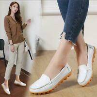 New Women genuine leather shoes Loafers slip on ballet Casual flats Office Shoes