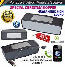 Black Christmas Gift High Sound Bluetooth Wireless Speaker Royal Mail 1st Class