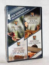 Charlton Heston Presents the Bible: 4 Film Favorites (DVD, 2014, 4-Disc Set) NEW