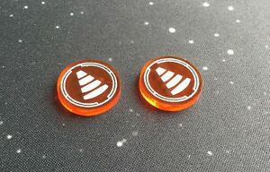 X-Wing 2.0 compatible, acrylic tractor beam tokens - trans. series