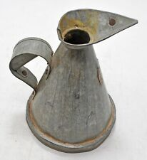 Vintage Iron Oil Measuring Pot Original Old Hand Crafted