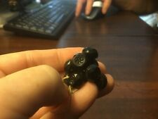 (9) Victorian-Glass Buttons-Faceted-Small Design-Black-FREE SHIPPING!