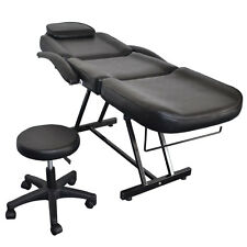 Adjustable Spa Facial Tattoo Massage Bed Chair Beauty Equipment Salon Black New