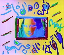 Mona Lisa, Original Mixed Media Painting, Peter Max - SIGNED w/ COA