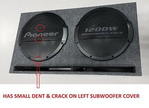 """Pioneer TS-WX1220AH Dual 12"""" Powered Enclosed Dual Subwoofers 3000 W Max [READ!]"""