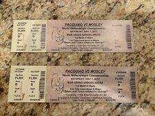 2 Ticket Lot Pair Pacquiao vs Mosley MGM Grand Garden $1000 Boxing Full Tickets