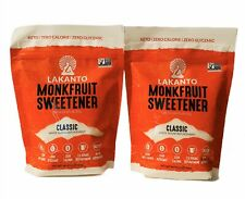 2-Pack Lakanto Classic Monkfruit Sweetener Classic White Keto Paleo 0 Cal 16 oz