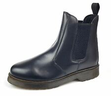 Grafters Ladies Leather Pull On Airsole Dealer Chelsea Black Boots