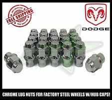 20 14X1.5 DODGE CHARGER LUG NUTS FOR FACTORY STEEL WHEELS WITH HUB CAPS 21MM HEX