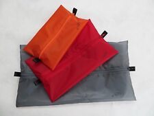 Set of 3 Tread Lite Gear 1.1oz Silnylon Flat Zip Pouch Stuff Sacks Ultralight 6g