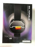 NEW SOL REPUBLIC v8 Tracks On-Ear Interchangeable Headphones Wired BLACK