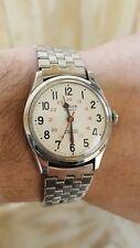 Vintage Men's Wyler Incaflex Railroad Approved Stainless Steel Wristwatch