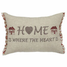 Embroidered Heart Country Decorative Cushions