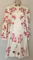 WHISTLES LONDON Ladies Size 10 Long Coat/Dress Floral Embroidered Gorgeous