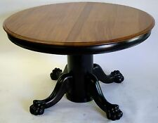 Dining room table Round AMERICAN EMPIRE STYLE occasional table 1890 claw paw