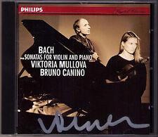 Viktoria MULLOVA Signed JS CPE BACH Violinsonaten CANINO CD Carl Philipp Emanuel