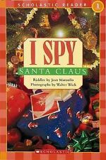 Childrens Reader Book Level 1 Infants I SPY SANTA CLAUS Jean Marzollo English BN