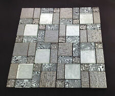 Beautiful High Quality Glass Mosaic Wall Tiles-Kitchen/Bathroom #J25