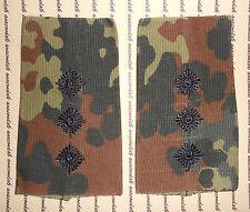 Schulterklappen Rangabzeichen Heer Hauptmann schwarzTarnfleck getragen ##1570