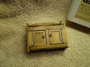 Shackman Miniature 2 door Cabinet w/shelf, Vintage, MIB