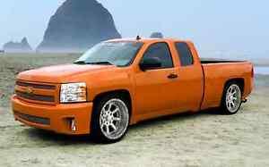 Fits 07-13 Chevrolet Silverado Ext Cab Street Scene 6pc Side Skirts 950-70186