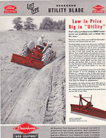VINTAGE AD SHEET #3100 - 1947 FORD DEARBORN MOTORS LIFT TYPE TRACTOR
