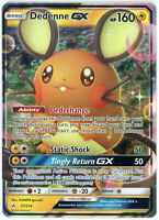 Pokemon 57/214 Dedenne GX Unbroken Bonds Ultra Rare Holo