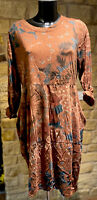 Lagenlook Designed & Made In Italy Ladies Cotton Boho Tunic/ Dress 1Size 8-16
