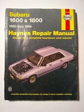 Haynes Manual:Subaru 1600 and 1800.  1980-1994