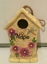 GARDEN ORNAMENT INSPIRATIONS BIRDHOUSE BIRD HOUSE HOTEL NEST NESTING - HOPE