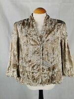 Ladies Jacket Size 16 Viyella Biege Embroidered Party Evening Wedding