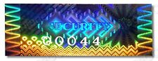 HIGH Security Hologram Stickers Labels, NUMBERED, 50mm x 20mm Warranty, Kinetic