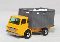 MATCHBOX SUPERFAST -SF-037A VER 2, CATTLE TRK, YEL/ORG, UNP BASE, GRY BOX JB2698